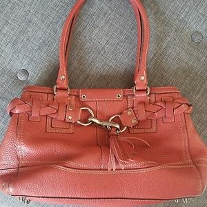 Lovely orange/coral Coach bag